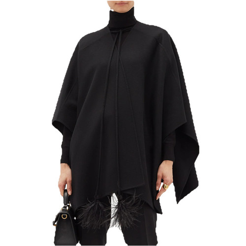 Feather-tassel Wool Cashmere cape