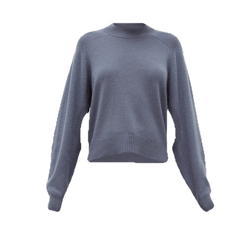 Cutout-sleeve Cashmere Sweater