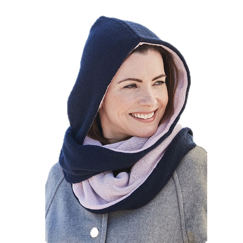 Classic Cashmere Hoodie-Scarf