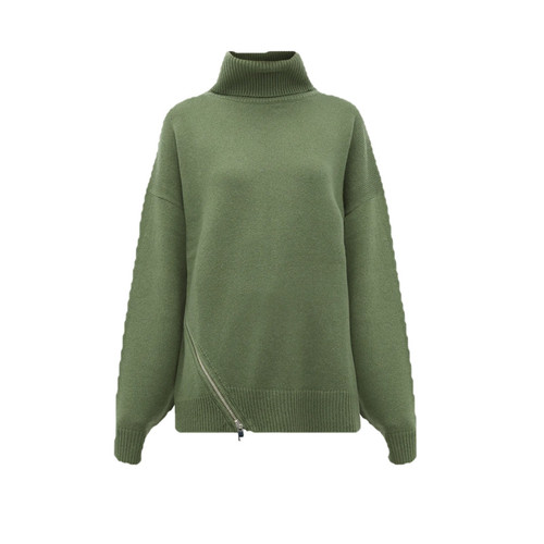 Side-zip Cashmere Sweater