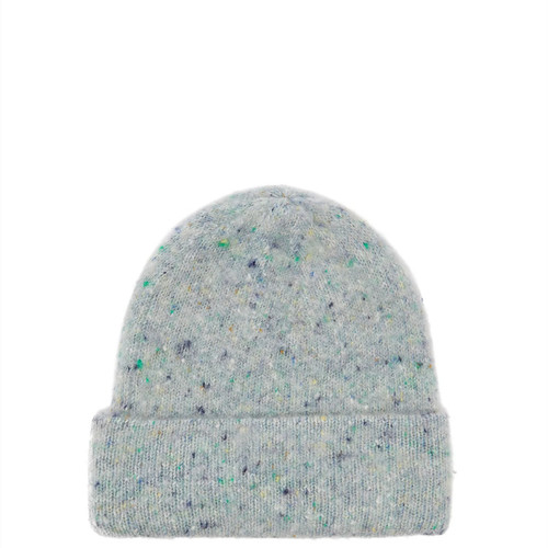 Ribbed wool-blend beanie hat