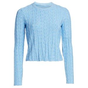 Round Neck Cable-Knit Cashmere Sweater