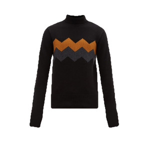 Wool Cashmere Turtle Neck Sweater