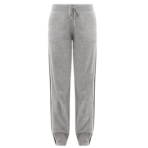 Cashmere Joggers with stripes