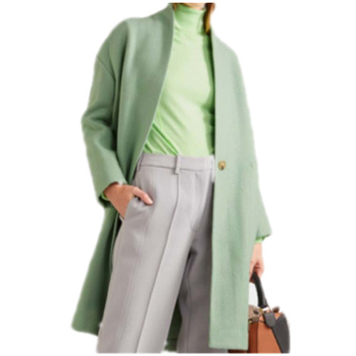 Wool Cashmere V-neck Coat