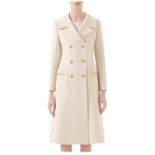 Wool Cashmere Coat with princess line