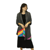 Cashmere Cape with colorful stripes