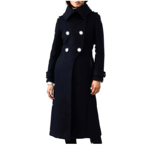 Wool Cashmere Coat with buttons