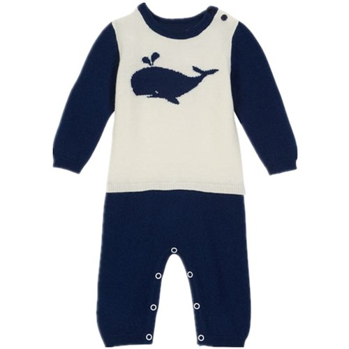 Two-Tone Mock Outfit Whale Coverall